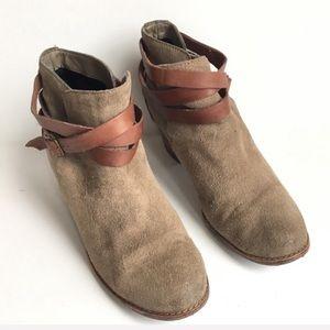 Dolce Vita Java Ankle Booties Brown 8.5